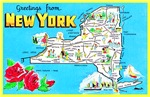 New York Map Greetings