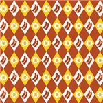 Bacon and Eggs Argyle Pattern