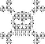 Cross Stitch Pixel Skull