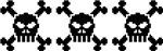 3 Pixel Skulls