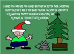 Funny Christmas baby brother cards
