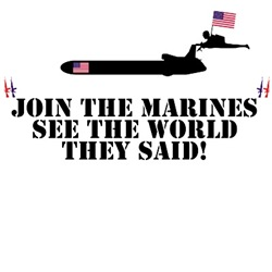Gift ideas for Marines with funny USMC image