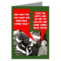 British humour rude Christmas Cards for Brits