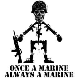 Once a Marine always a Marine cool USMC shirts