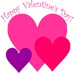 Valentine's Day Hearts Trio T-shirts & Gifts