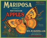 Mariposa Butterfly Fruit Crate Label