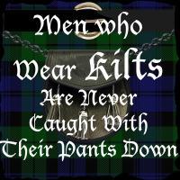 Men who wear kilts