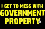 GOVERNMENT PROPERTY - YELLOW ON BLACK