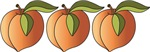 Row Of Peaches