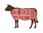Cow Meat Cuts Diagr..