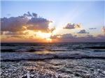 Sunset On Waves Nautical Coastal Seaside
