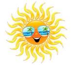 Summer Sun Cartoon with Sunglasses
