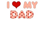 Father's Day: I Love My Dad Pink Heart Letters