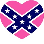Pink & Blue Confederate Heart