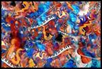 Colorful Musical Instruments Art Print Music Madne