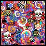 Colorful Sugar Skull Pop Art By Juleez