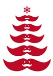 Red mustache Christmas tree