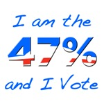 I am the 47% and I Vote with Obama Logo