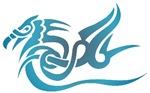 Blue dragon tattoo t-shirts & gifts