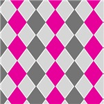 Gray and Pink Checkerboard