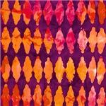 Purple Bold Tie Dye Diamonds