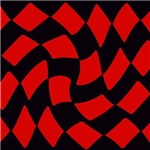 Black and Red Checkerboard Twist