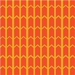 Bold Orange Fence Panel