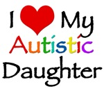 I love my autistic Daughter t-shirt. Support the a