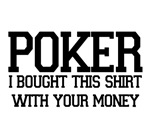 Poker. Great text style design for poker gamers.