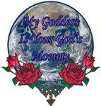 Big Yin Blue Yang Marble Pentagram Goddess