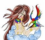 Native Princess and Hummingbird