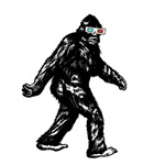 SASQUATCH WITH 3D GLASSES