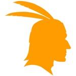 Orange Native American Outline