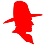 Red Cowboy Silhouette