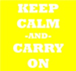 Keep Calm And Carry On (Yellow)