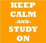 Keep Calm And Study On (Orange)