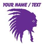 Custom Purple Indian Headdress Outline