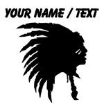 Custom Indian Headdress Outline