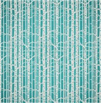 Blue and White Trees Pattern