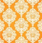 Orange and White Hawaiian Damask