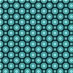 Turquoise Octagon Pattern