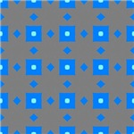 Glowing Blue Squares Pattern