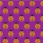 Orange Lady Bug Pattern