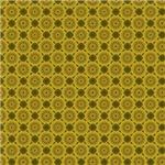 Yellow and Green Star Circles Pattern