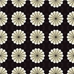 Cream and Brown Flower Pattern