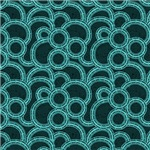 Turquoise Overlapping Circles
