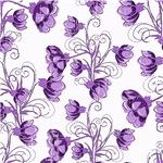 Pretty Purple Vine Flowers Pattern
