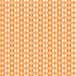 Orange and Cream Circles Pattern