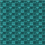 Cute Turquoise Hearts Pattern