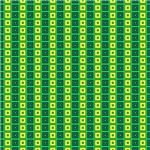Green, Yellow, and Blue Squares In Squares Pattern